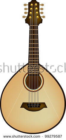 Clip Art Illustration Lute Instrument Stock Illustration 99279587.