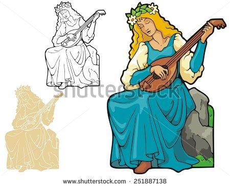 Lute Guitar Stock Vectors & Vector Clip Art.