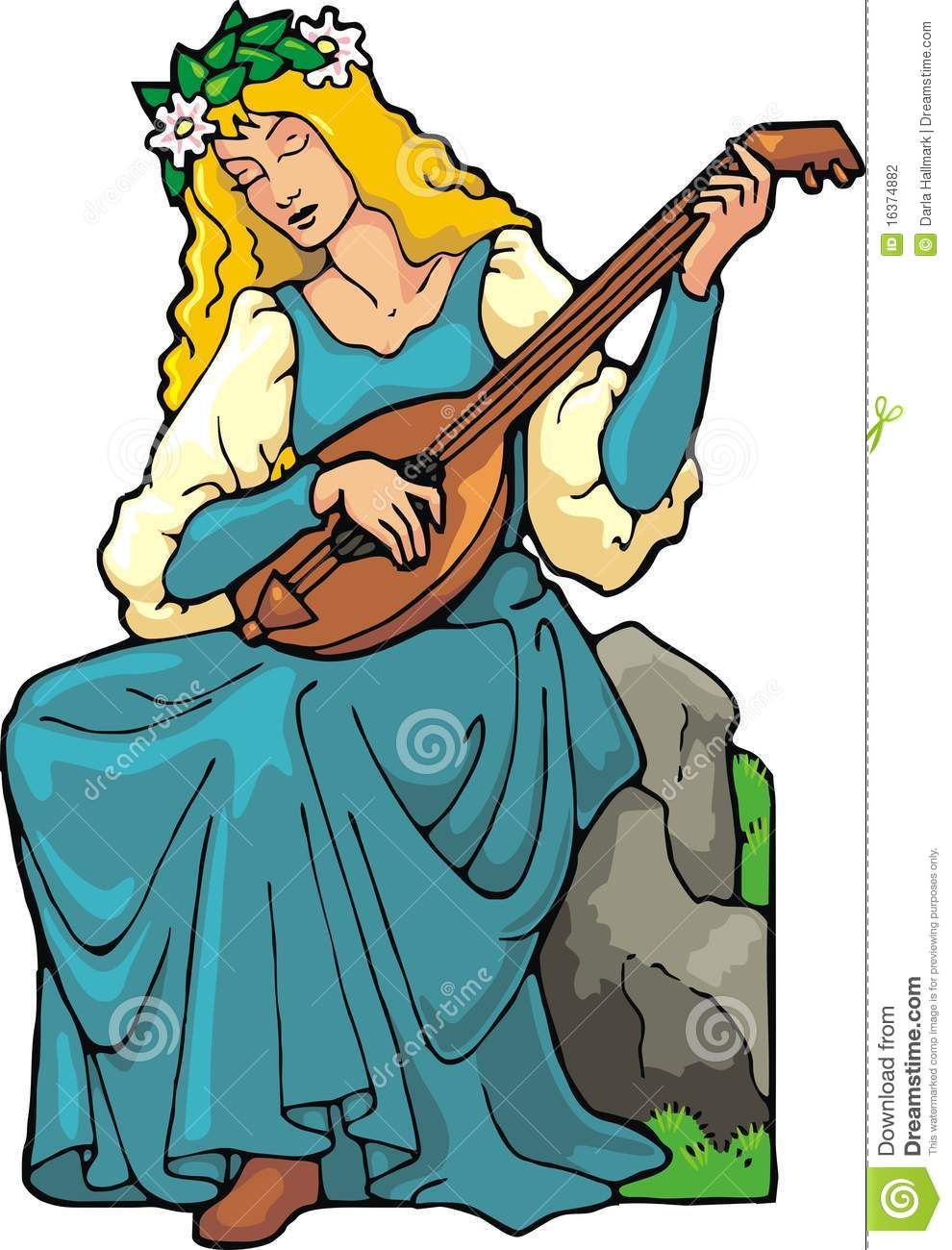 Lute Player Stock Photography.