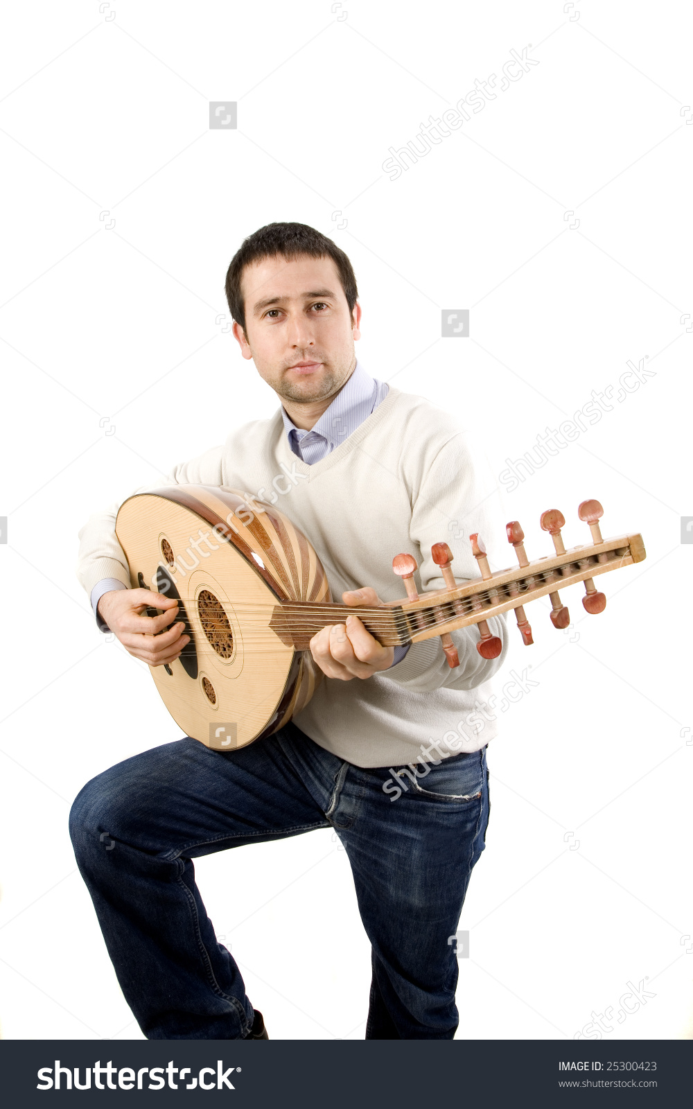 Lute Player Stock Photo 25300423.