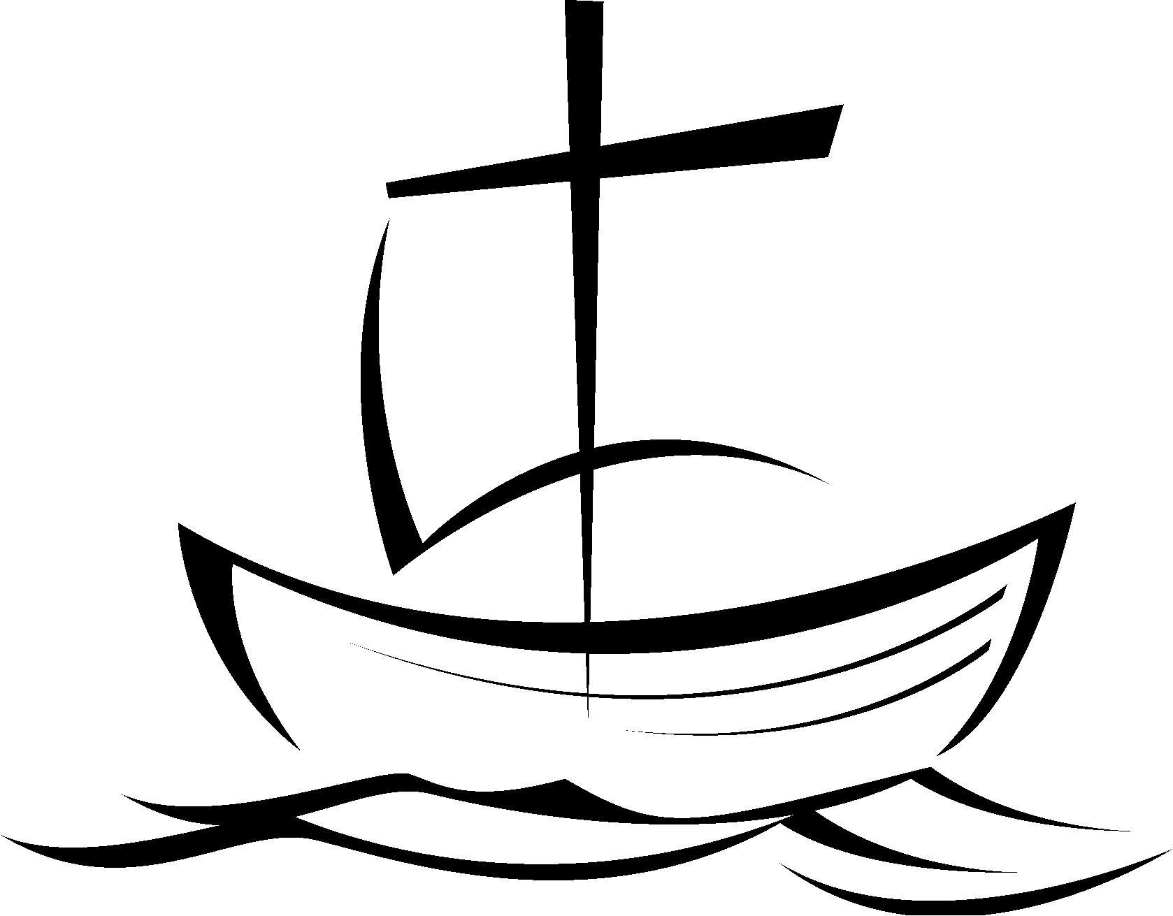 ship clipart sketch to color, 15 cm long.