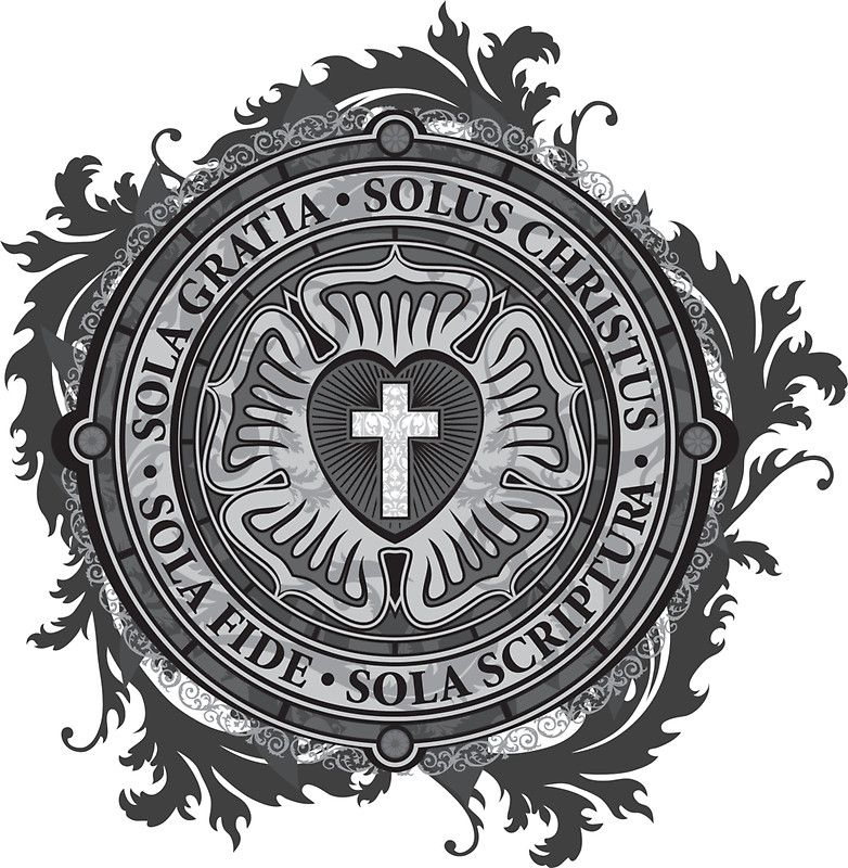 Luther Rose Christian Luther Seal\' Sticker by Carl Huber.