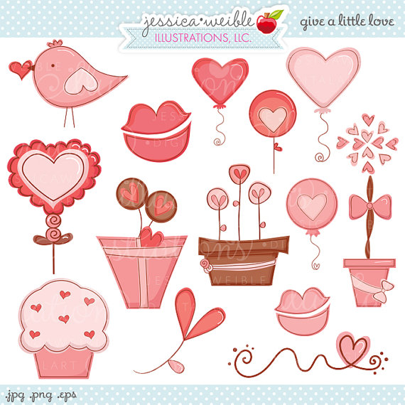 Cute luv clipart.
