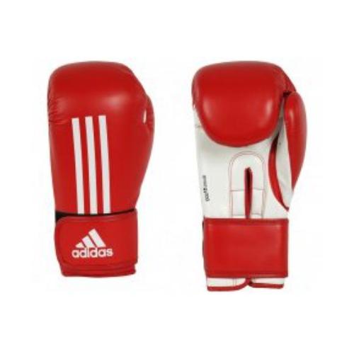 Luva Boxe Vermelha Branca Adidas Energy 100 10oz.