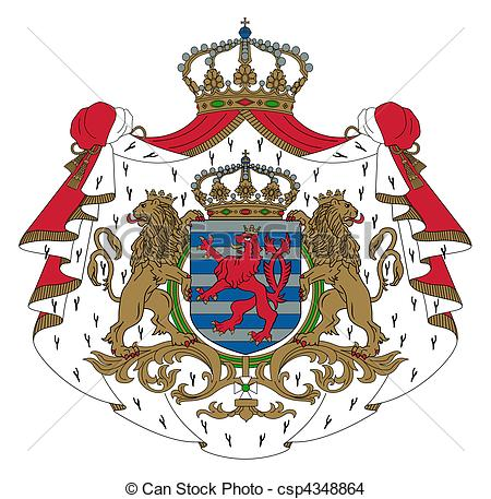 Luxembourg coat arms Clip Art and Stock Illustrations. 70.