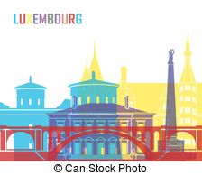 Luxembourg skyline Clip Art and Stock Illustrations. 47 Luxembourg.