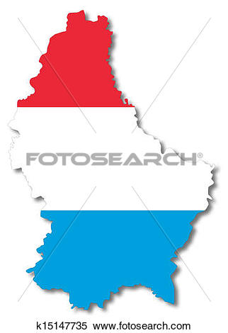 Stock Illustration of Map And flag of Luxembourg k15147735.
