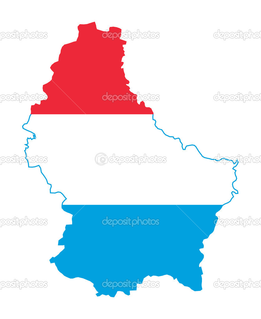 Luxembourg map on flag — Stock Photo © speedfighter17 #5392612.
