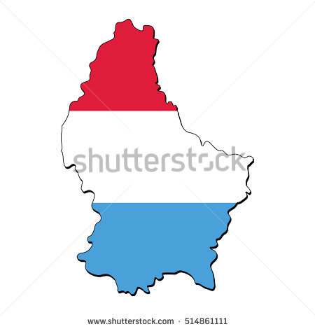 Map Flag Luxembourg Stock Vector 105951926.