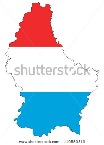 Luxembourg Map Stock Photos, Royalty.