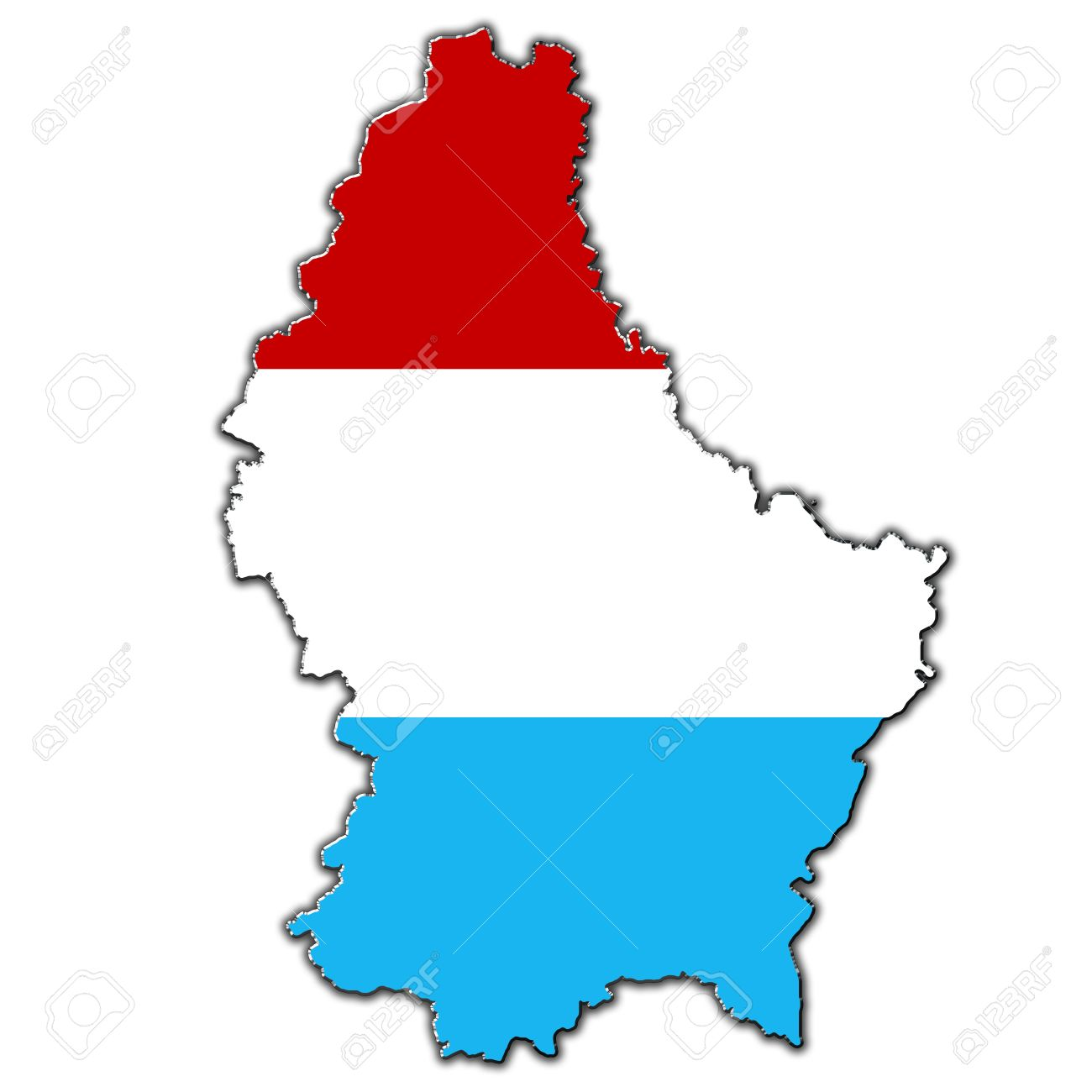 Luxembourg map clipart.