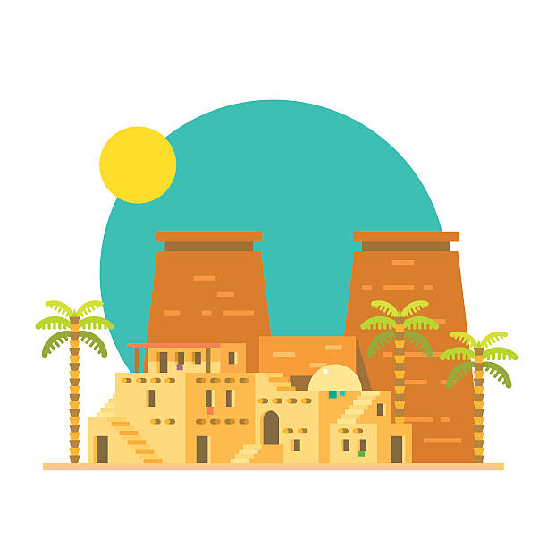 Luxor Egypt Clip Art, Vector Images & Illustrations.