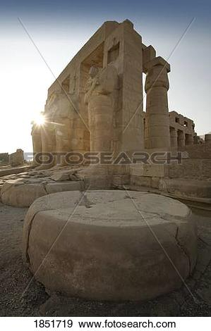 Stock Photograph of The Ramesseum, Luxor, Egypt; ancient temple of.