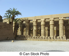 Clip Art of Temple of Luxor, Luxor, Egypt.