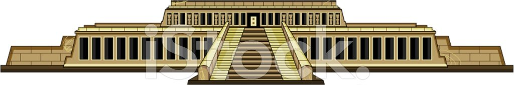Hatshepsut's Temple AT Luxor Egypt stock vectors.