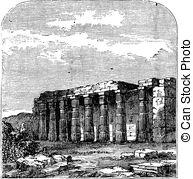 Clip Art of Temple of Luxor, Luxor, Egypt.