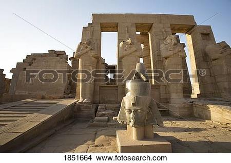 Stock Photo of Luxor, Egypt; The Ramesseum 1851664.