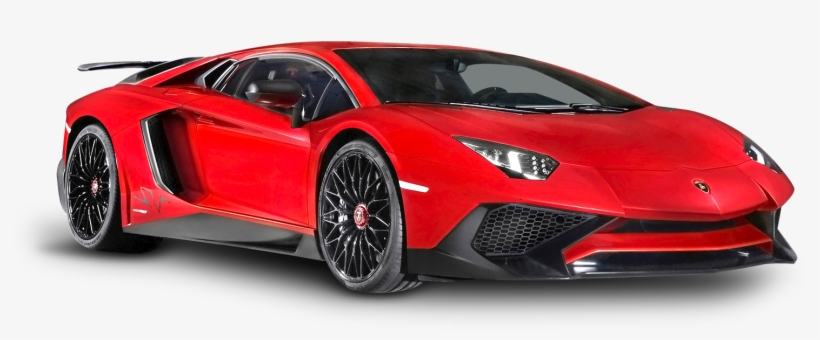 Red Lamborghini Aventador Luxury Car Png Image.