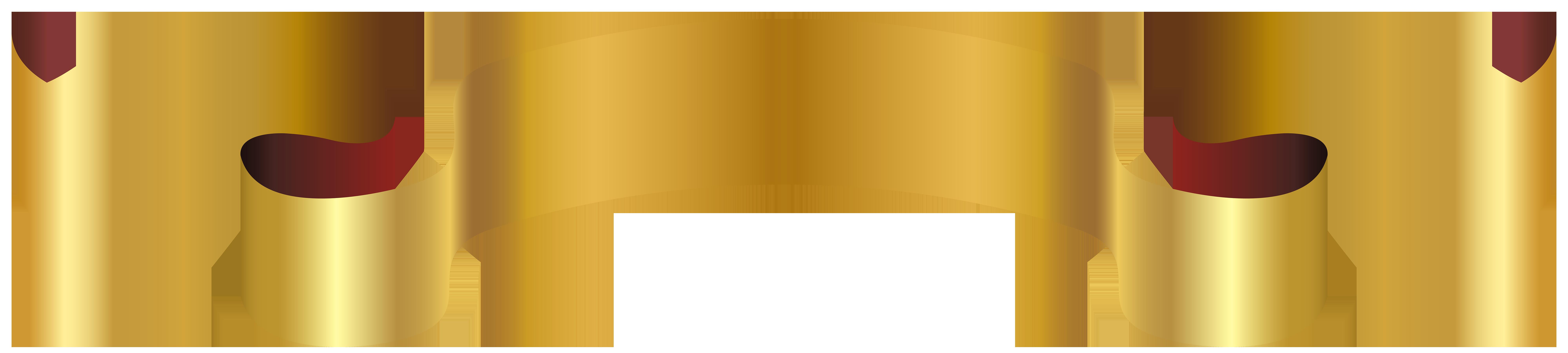 Luxury Golden Banner PNG Clip Art Image.