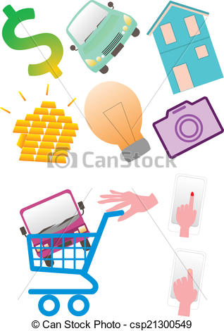 EPS Vector of Buy luxury goods.