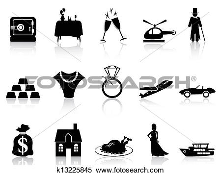 Clipart of wealth and luxury icon k13225845.