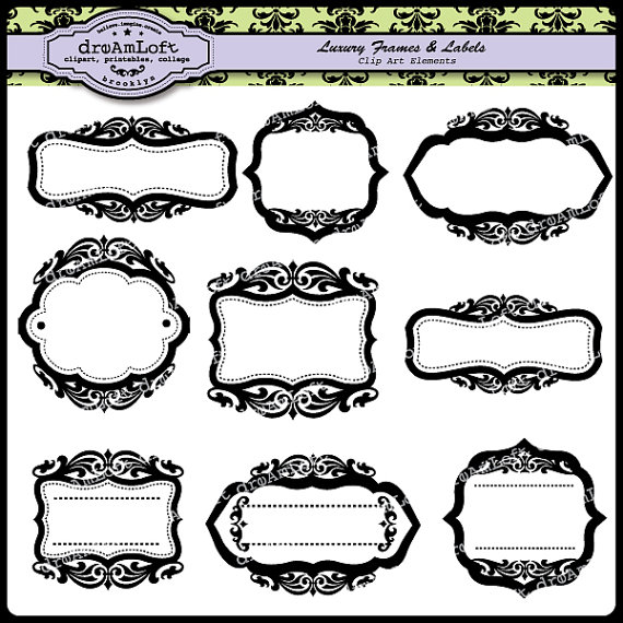 Luxury Frames and Labels Clipart Elegant style frame by DreAmLoft.