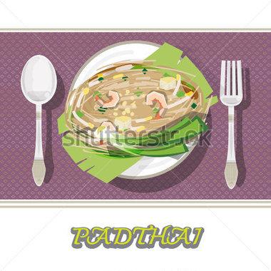Thai Noodle Clipart.