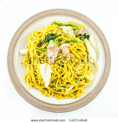 Noodles Plate Stock Photos, Royalty.