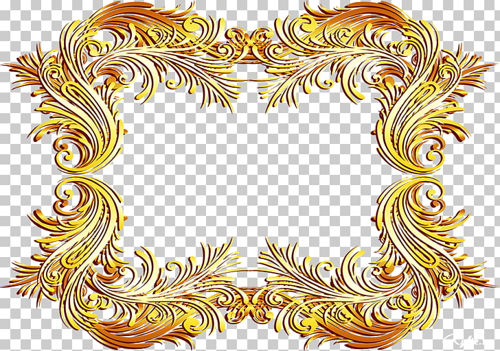 Gold Frames Ornament Raster graphics , luxury frame PNG.