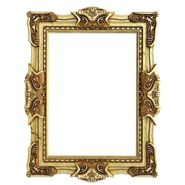 Gold Luxury Photo Frame, Photo Frame, Wooden Frame PNG.