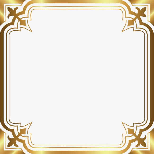 Luxury Gold Border PNG, Clipart, Border Clipart, Decorative.