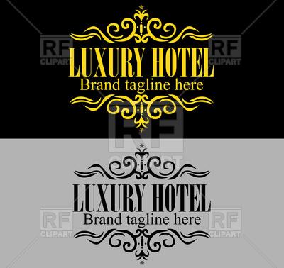 Luxury hotel logo Vector Image #86004.