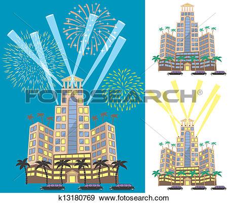 Clip Art of Luxury Hotel k13180769.