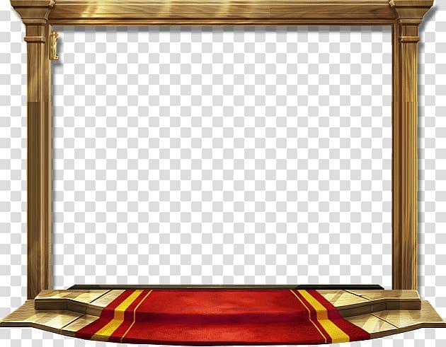 Stage , Game Door Icon, Golden luxury red carpet door frame.