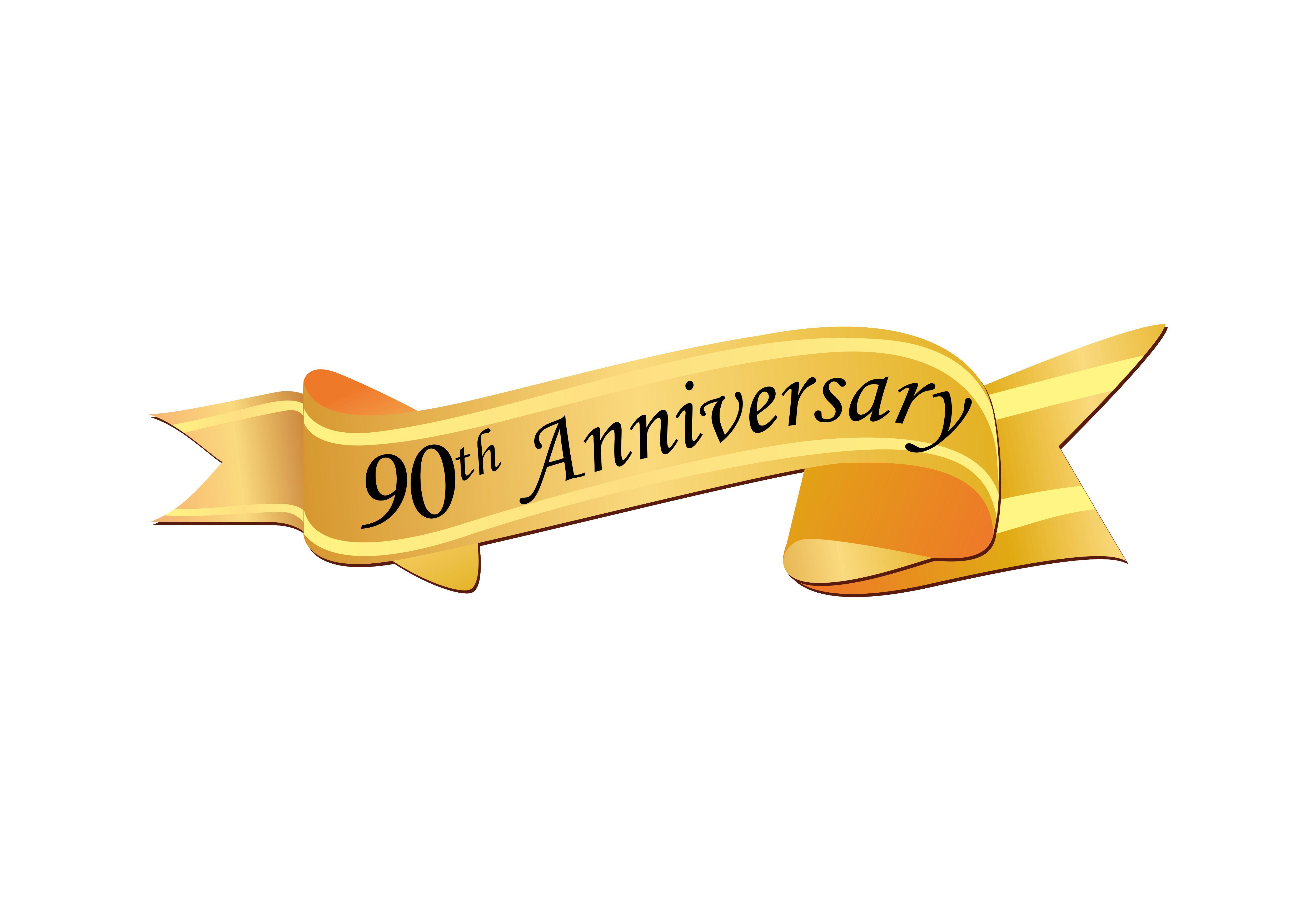 90th Anniversary luxury logo.