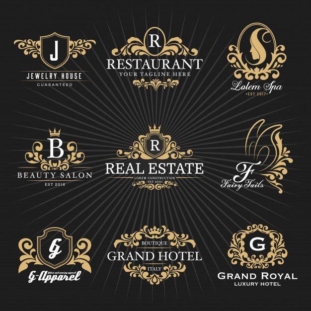 Vintage Royal Heraldic Monogram and Frame Logo Decorative.