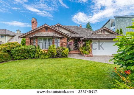 Neighborhood Houses Stock Images, Royalty.