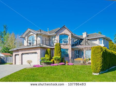 Big Luxury Custom Made House Residence Stock Photo 130377341.