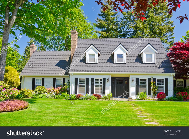 Custom Built Luxury House Nicely Trimmed Stock Photo 112335221.