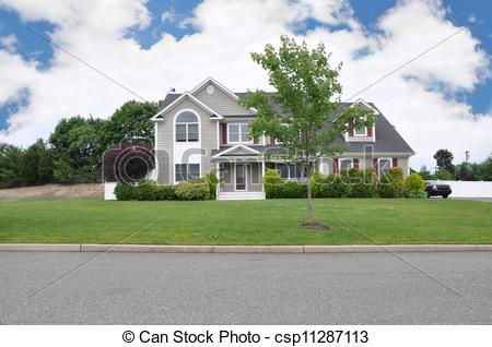 Stock Photography of Large Luxury Home.