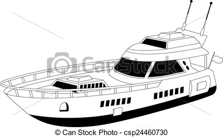 Vectors of Luxury yacht.