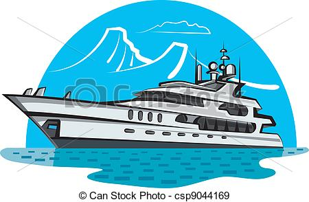 Luxury yacht clipart.