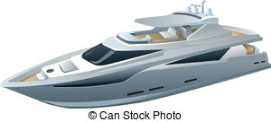 Vector Clipart of speed luxury yacht csp18294109.