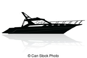 Vector Illustration of luxury yacht.