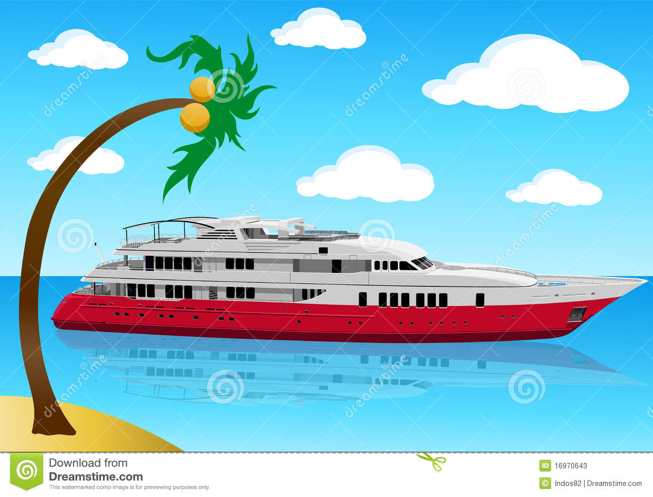 Luxury Modern Yacht Stock Photos.