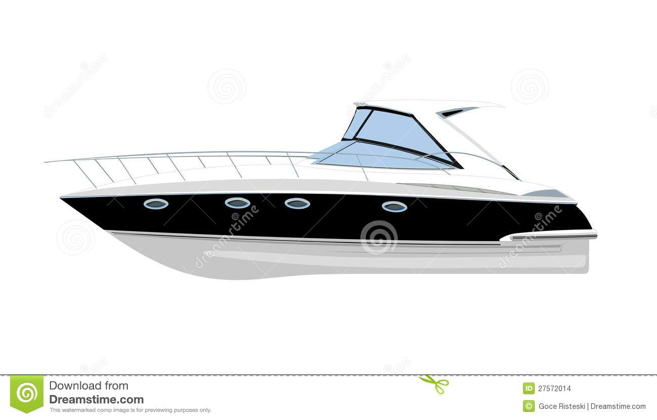 Yacht Vector Illustration Stock Images.