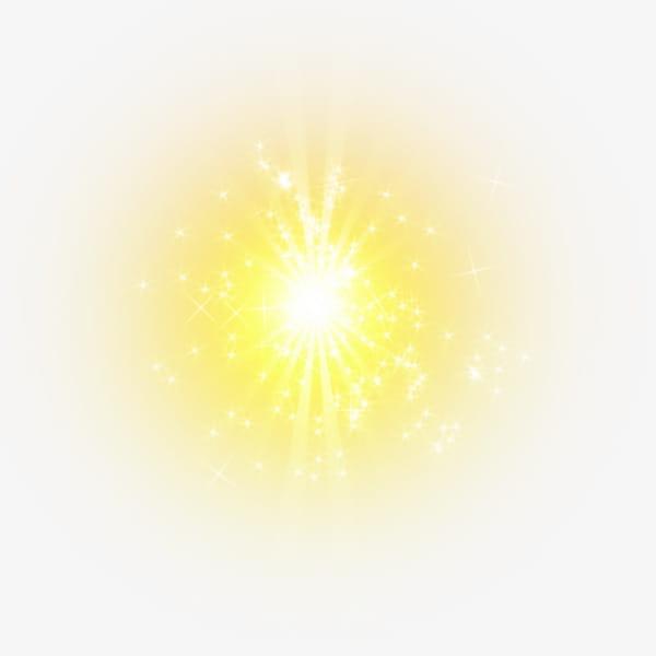 Elemento de efecto de luz amarilla PNG Clipart.