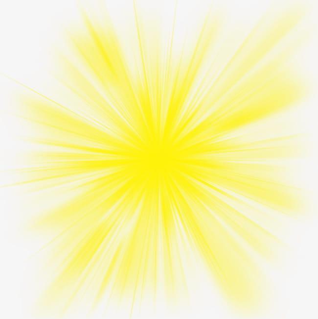Efecto de radiación de luz amarilla PNG Clipart.
