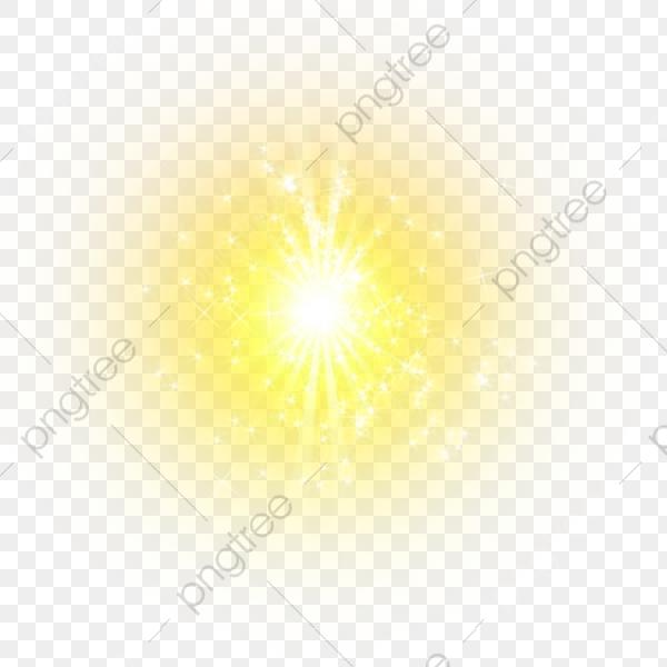 Efecto De Luz Amarilla Elemento, Amarillo, Fresco, La Luz.