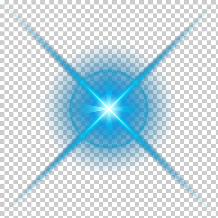 Luz azul, material de efecto de luz decorativo azul PNG.